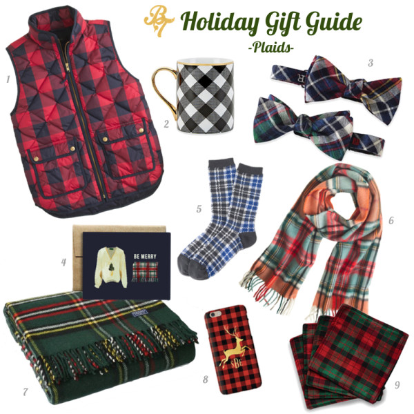 2015 Gift Guide- Plaids